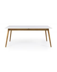 Tenzo Uitschuifbare Eettafel Dot White 180-240cm