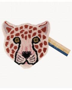 Doing Goods Vloerkleed Pinky Leopard Head