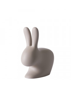 Qeeboo Stoel Rabbit Baby Dove Grey