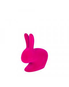 Qeeboo Boekensteun Rabbit XS Velvet Fuchsia