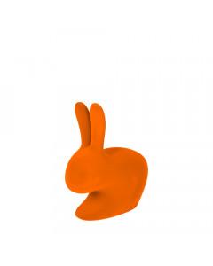 Qeeboo Boekensteun Rabbit XS Velvet Oranje