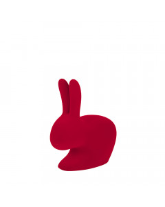Qeeboo Boekensteun Rabbit XS Velvet Rood