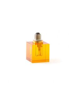 Seletti Crystaled Square light bulb E27-Amber